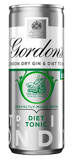 Gordon's Dry Gin and Diet Tonic 250ml PM Can