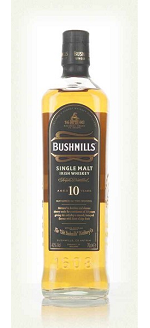 BUSHMILLS 10YR IRISH SINGLE MALT WHISKEY