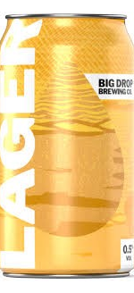 Big Drop Lager Can Low Alcohol Beer