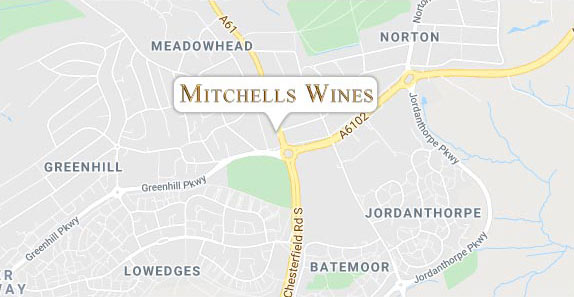 Mitchells Wine Location Map