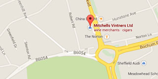Small map to Mitchells Wine